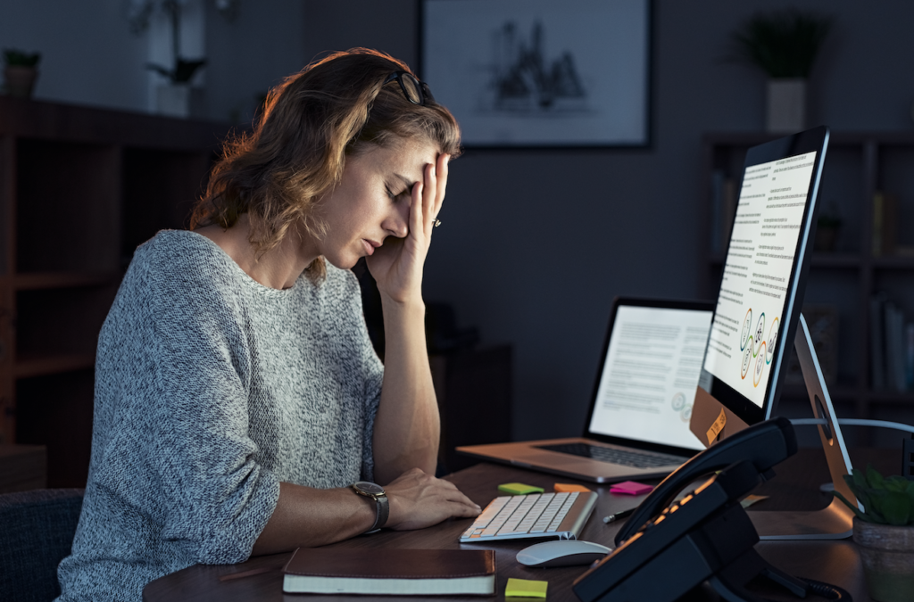 employee struggling with burnout