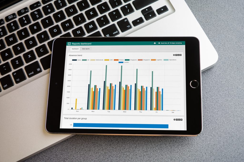 sickness planning on an iPad device