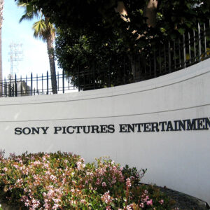 Sony Pictures Entertainment text on a wall