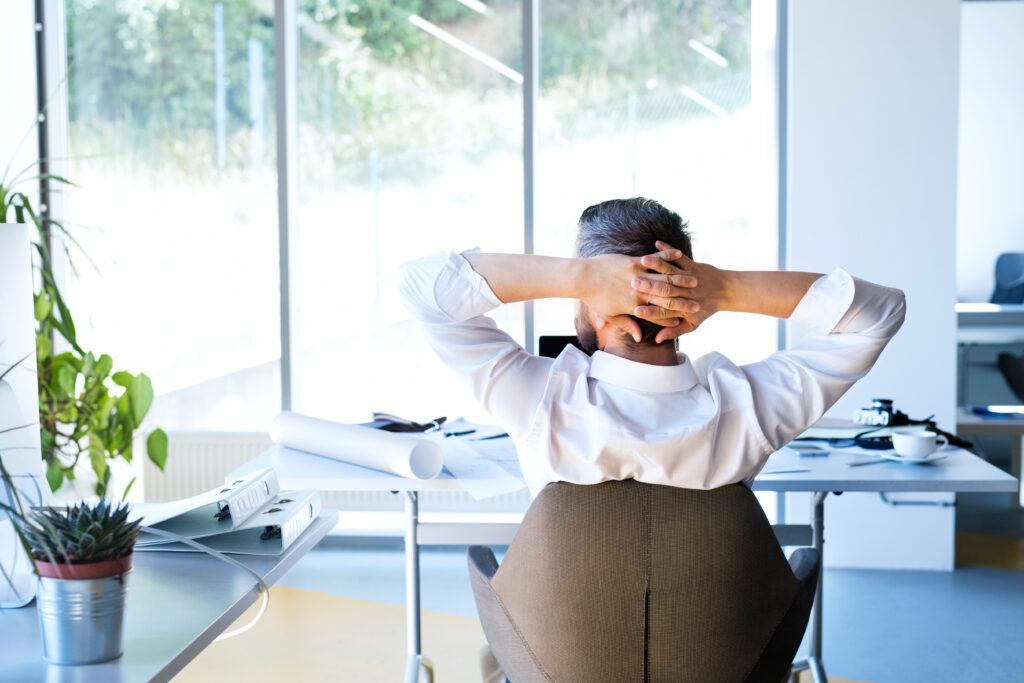 Office Worker Relaxing