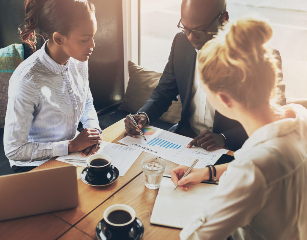 Business team planning meeting