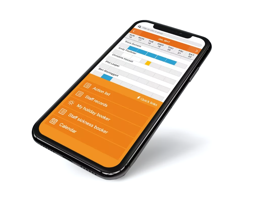 Absence management on mobile