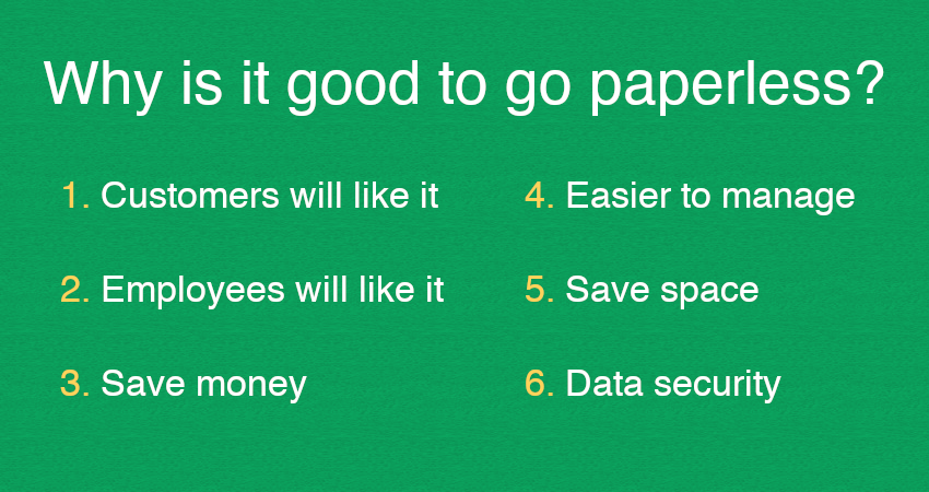 Why is it good to go paperless