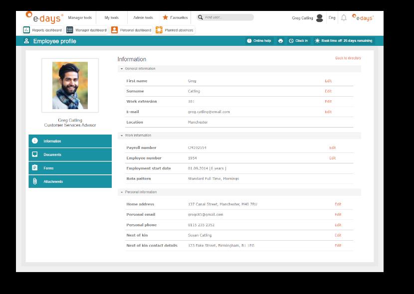 Customised employee database