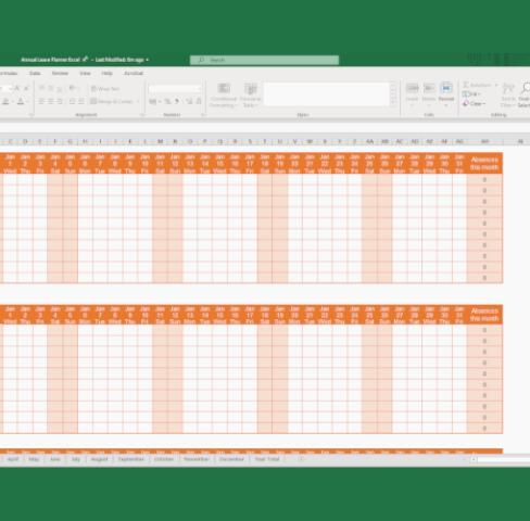 Free Excel Holiday & Leave Planner