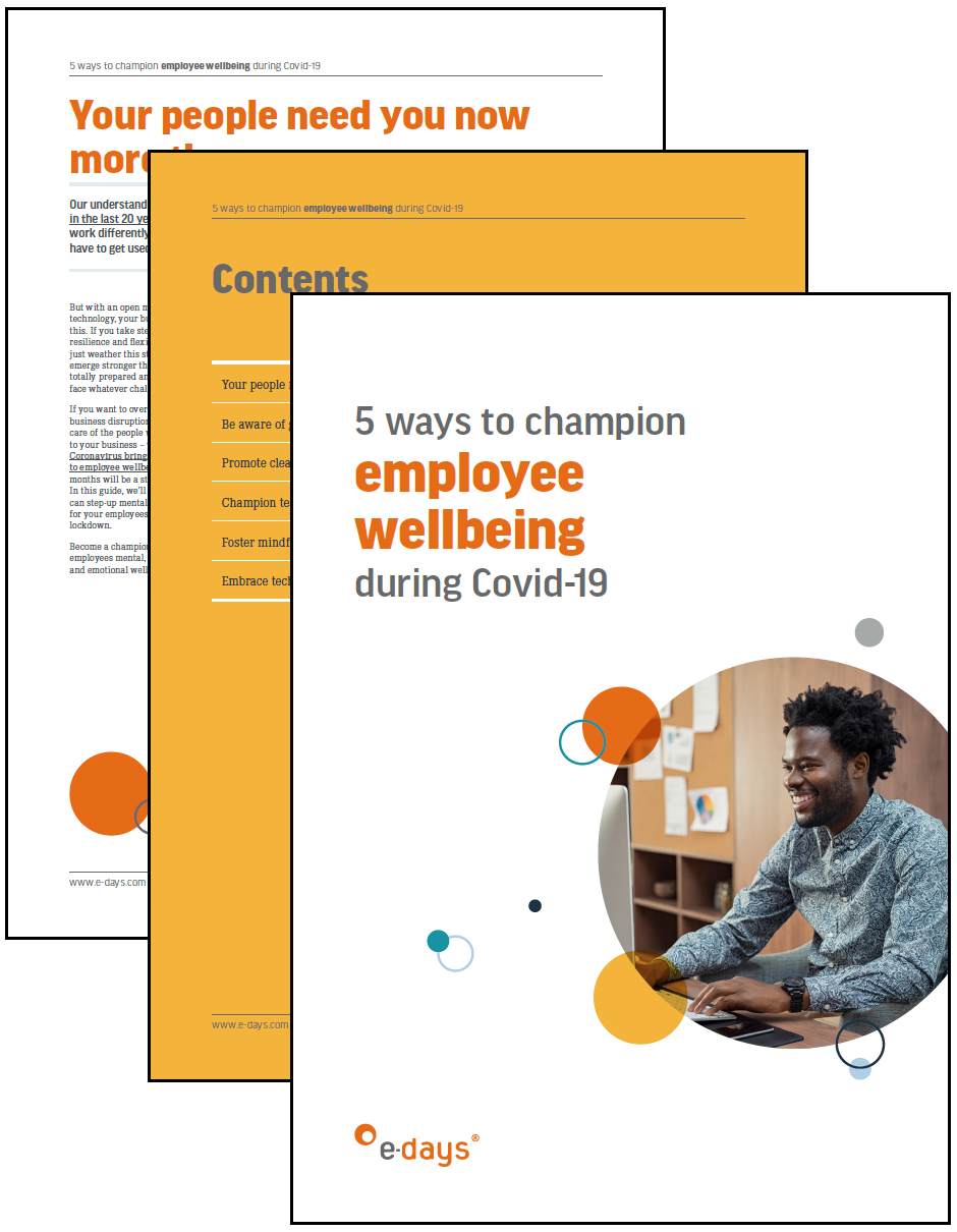 champion employee wellbeing through covid-19 ebook