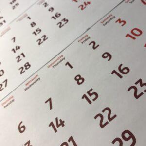 holiday calendar year